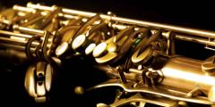 Photo d'un saxophone